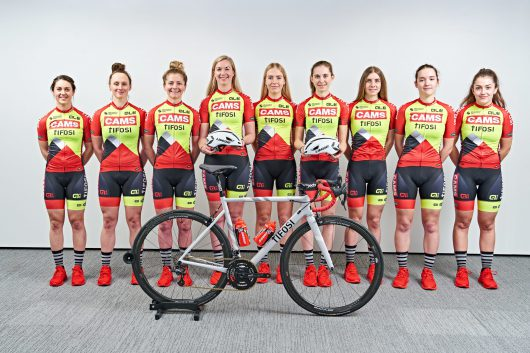 Group photo of cyclists